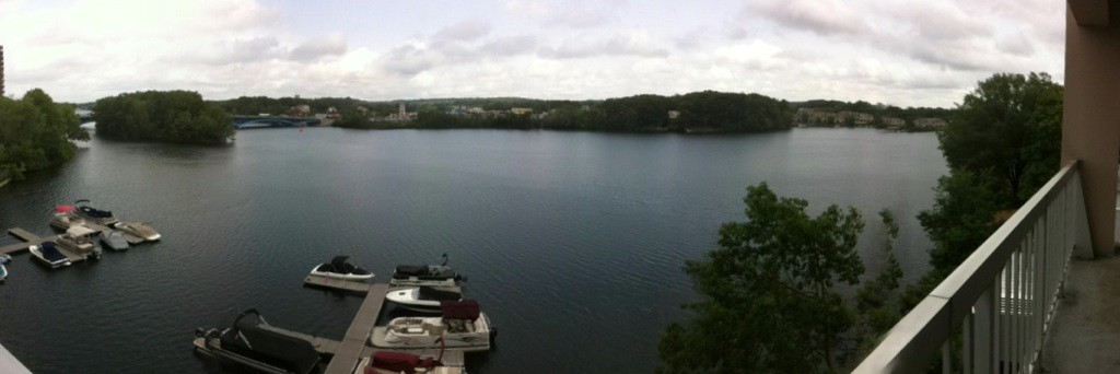 View of the Lake behind where I lived in Worcester, MA.